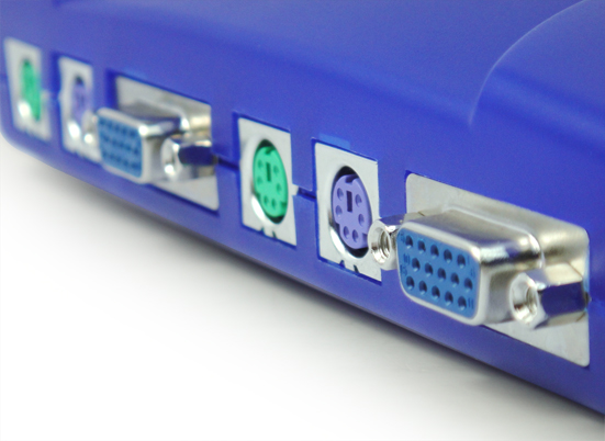 (Plastic)PS/2 4Port KVM Switch