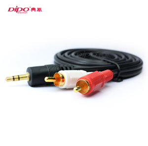 DIPO 3.5mm to 2 RCA Analog Audio Red and White gold Cables 1/30m